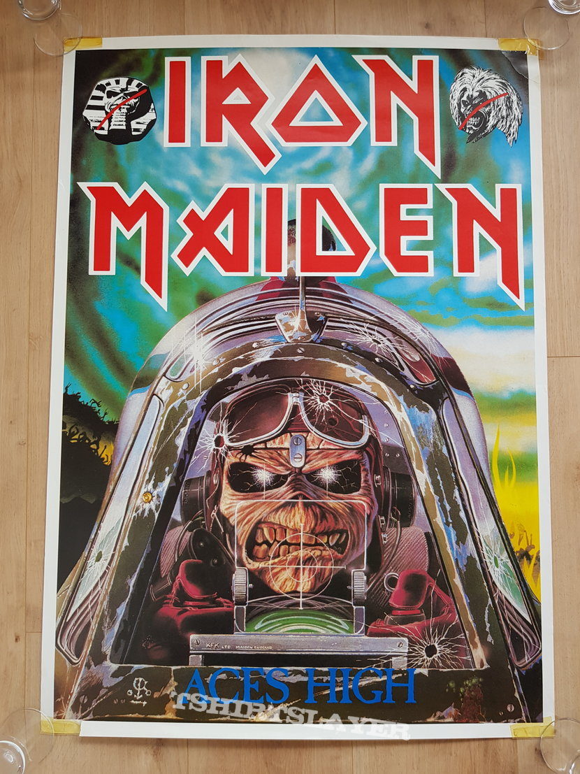 Iron Maiden - Aces High - promo poster