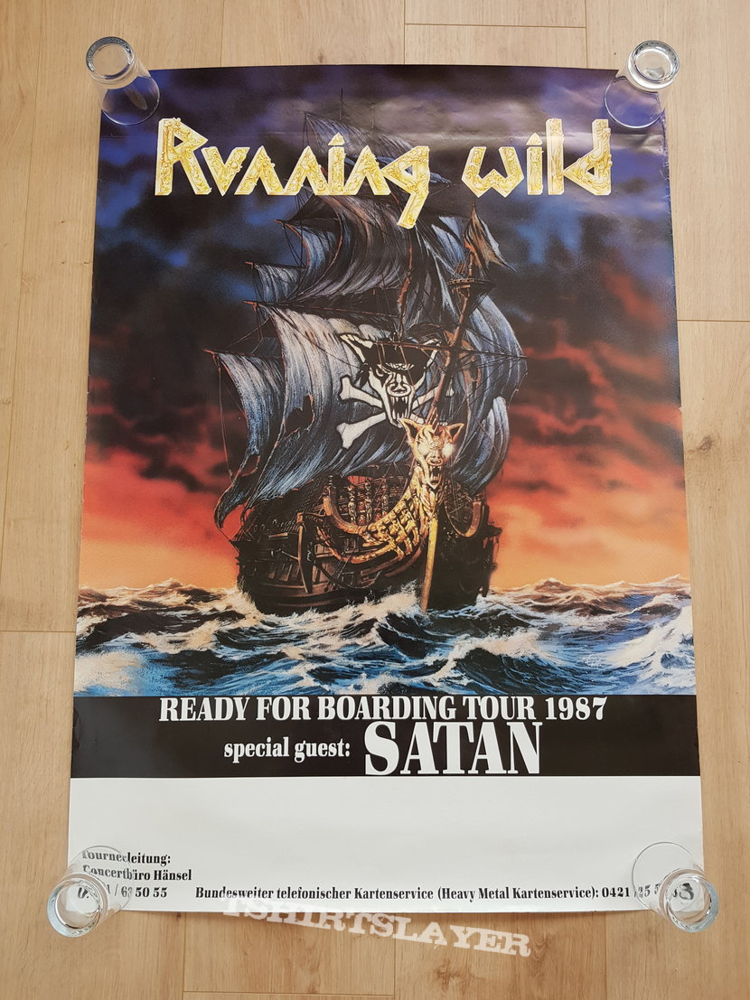 Running wild - Ready For Boarding Tour 1987 - tour poster