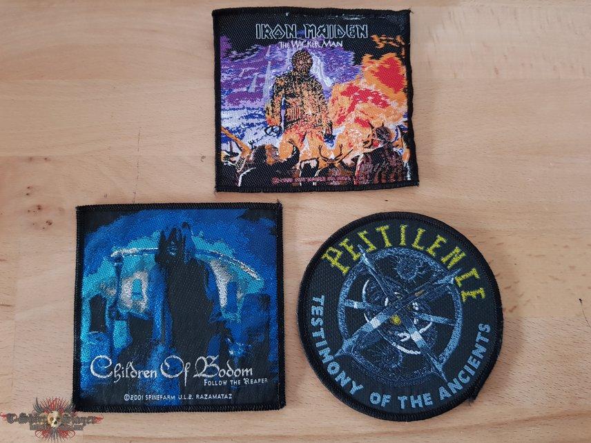 Children Of Bodom + Iron Maiden + Pestilence - patches