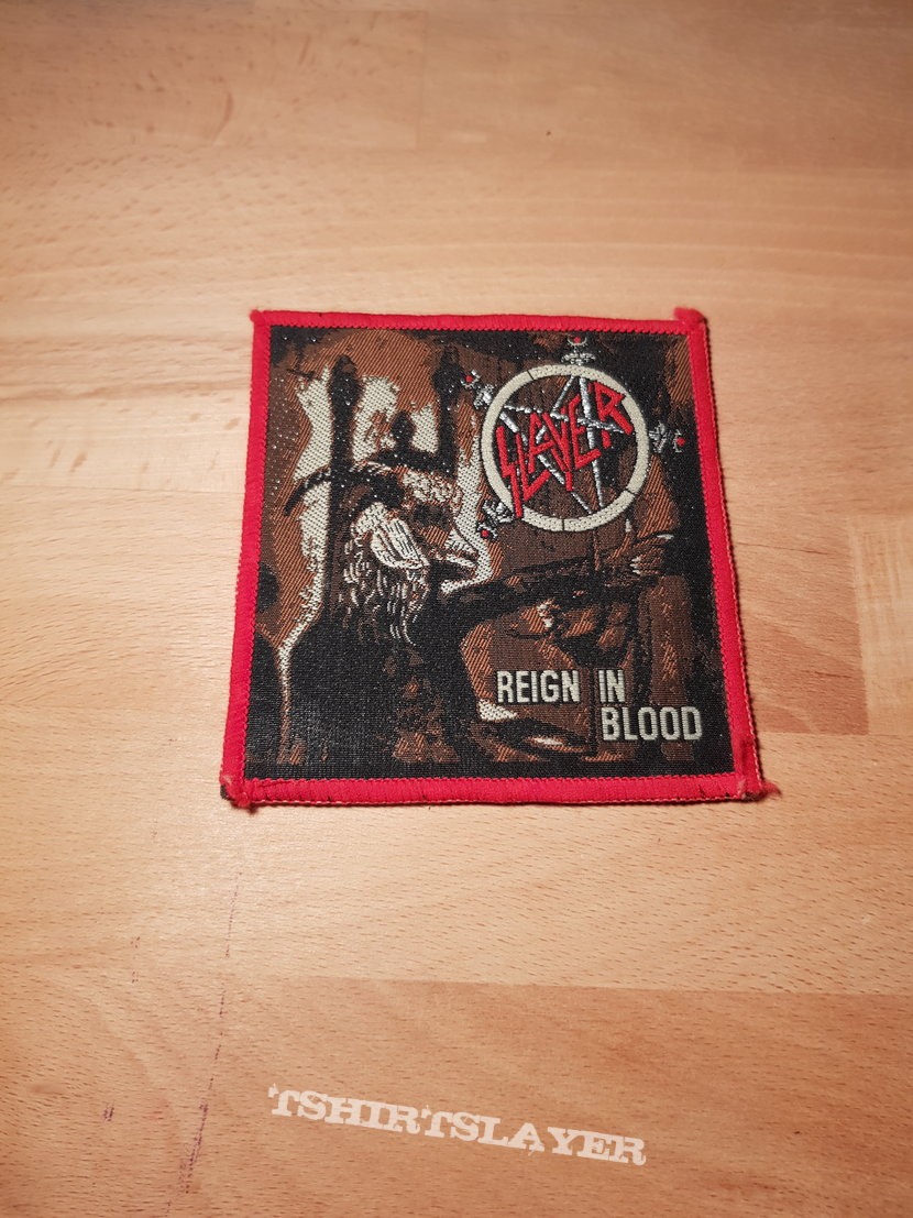 Slayer - Reign In Blood - red border vintage patch