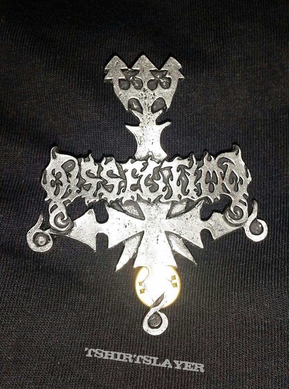 Dissection - Logo Cross Metal Pin