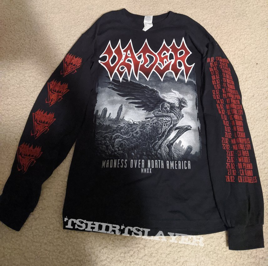 Vader - Madness Over North America MMXX 2020 longsleeve tour shirt
