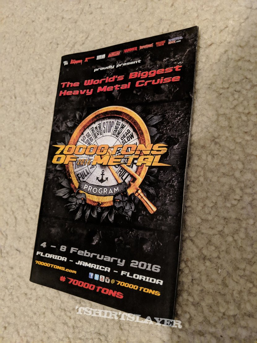 70,000 Tons of Metal 2016 official program booklet (signed)