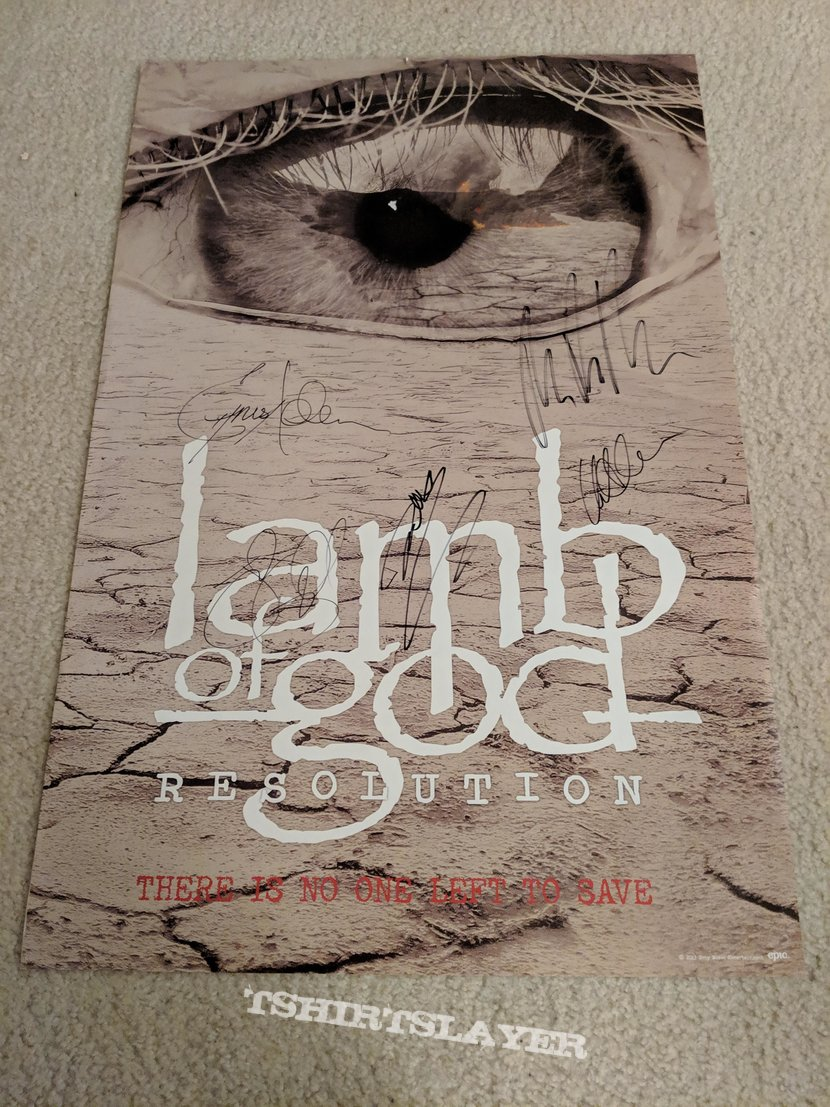 Lamb of God - Resolution poster (signed)