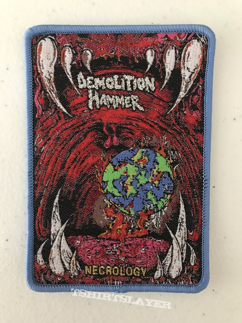 Demolition Hammer - Necrology woven patch