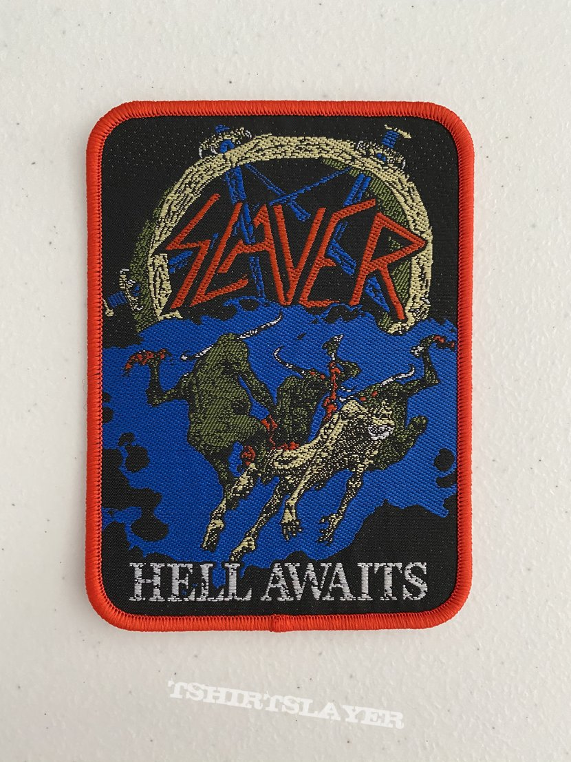 Slayer — Hell Awaits woven patch