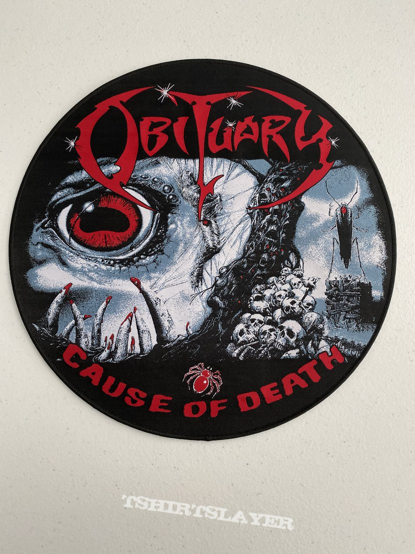 Obituary - Cause of Death woven backpatch