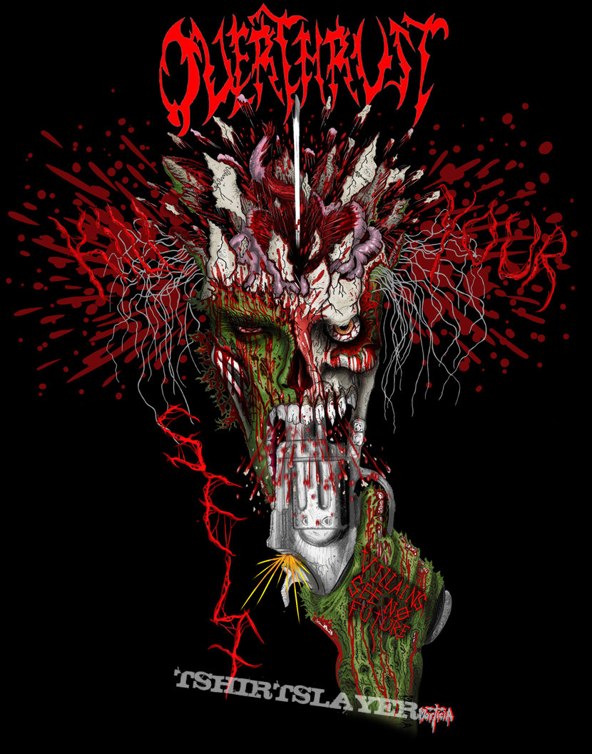 Overthrust - Villains See No Future test tshirt, auction is live! 122019