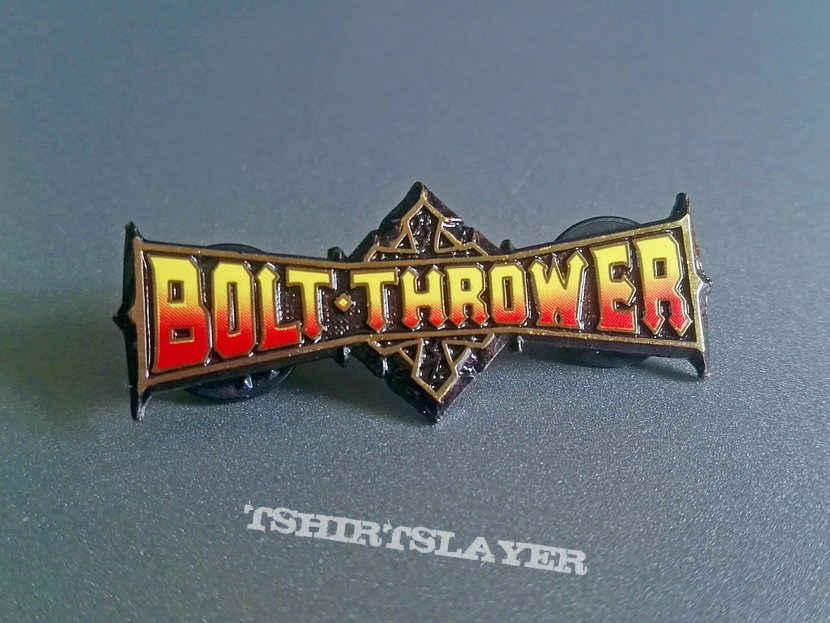 Bolt Thrower Official Enamel Pin Red/Yellow Version