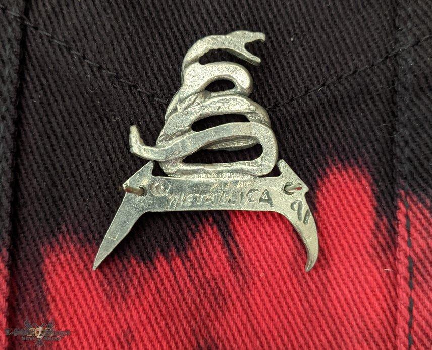 Metallica pewter pin