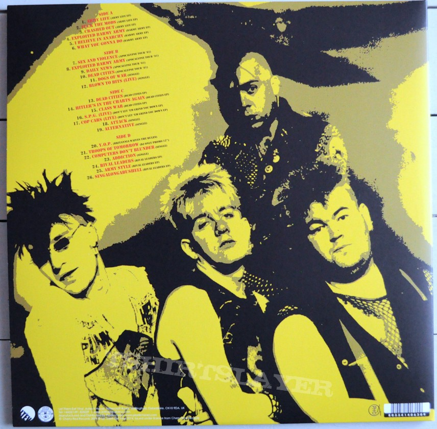 The Exploited Punk Singles Amp Rarities 1980 83 Original Red