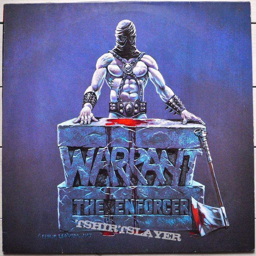 Warrant The Enforcer Original Vinyl Tshirtslayer Tshirt