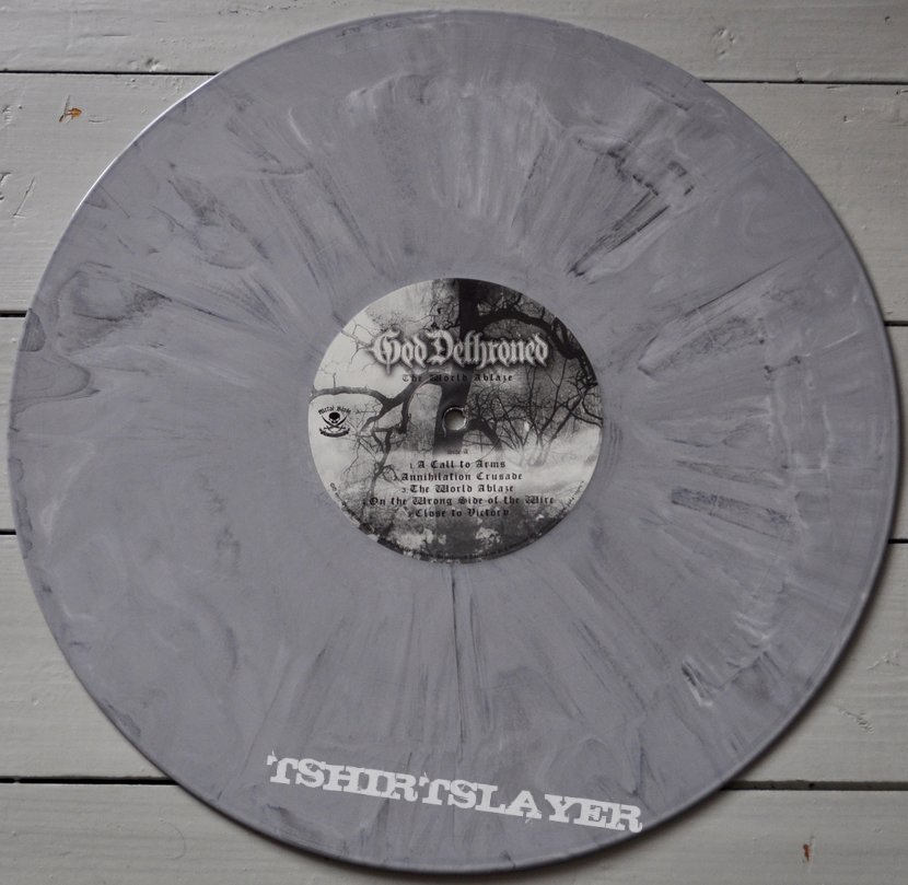 God Dethroned ‎– The World Ablaze Grey/Marbled Coloured Vinyl