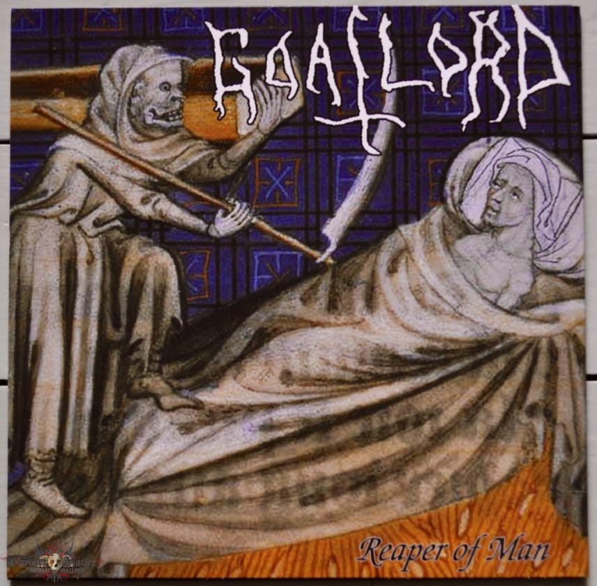 Nunslaughter / Goatlord – Foreshadow / Reaper Of Man  Original Yellow Vinyl