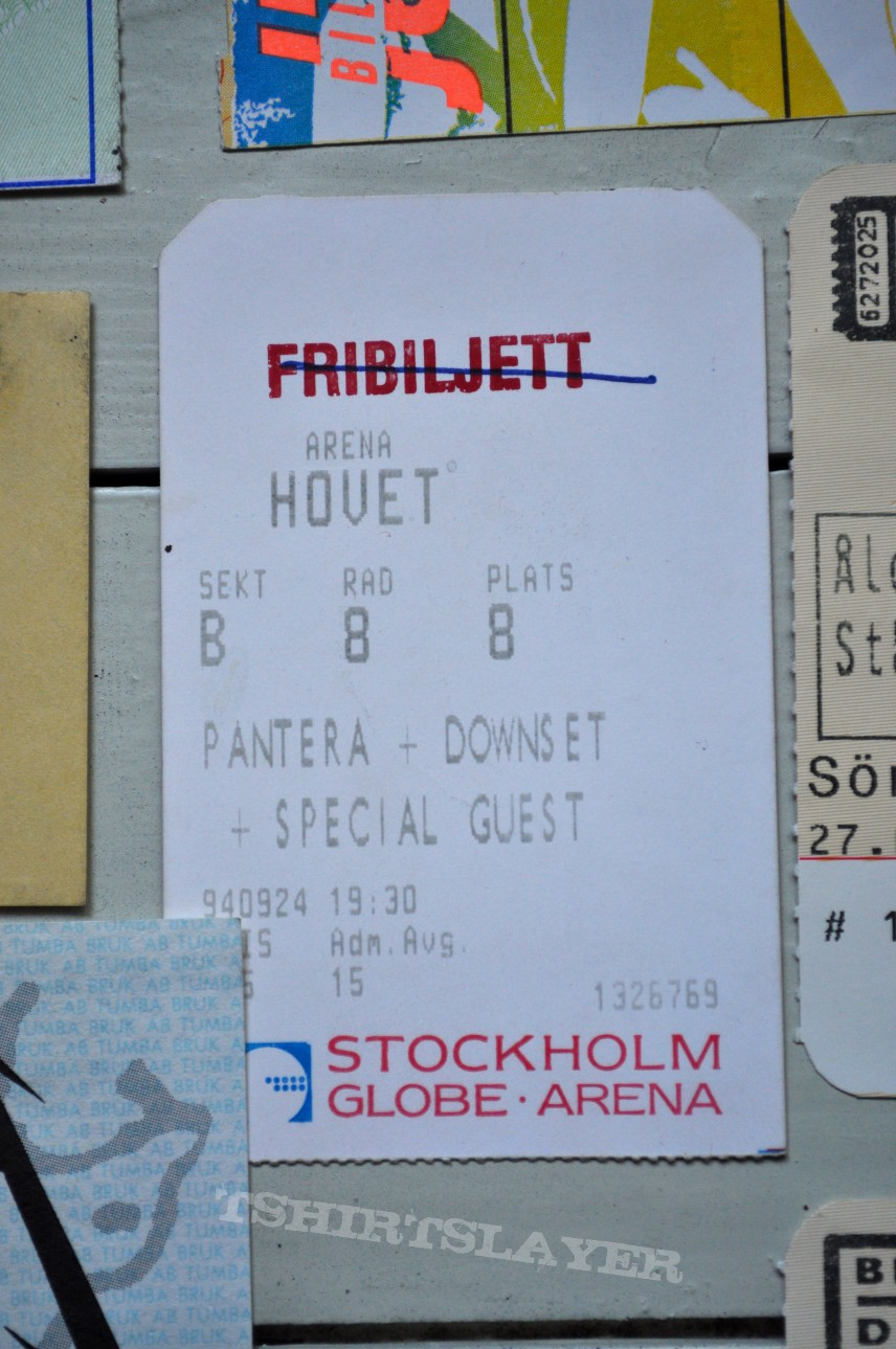 Old Concert Tickets From The 90´s