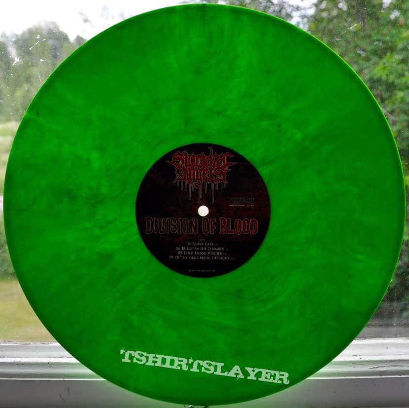 Suicidal Angels Division Of Blood Original Green Vinyl