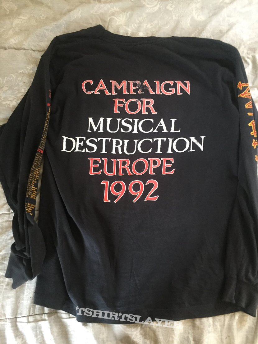 NAPALM DEATH 1992 European tour longsleeve