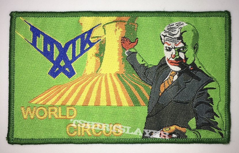 Toxik - World Circus Woven Patch (Green border)