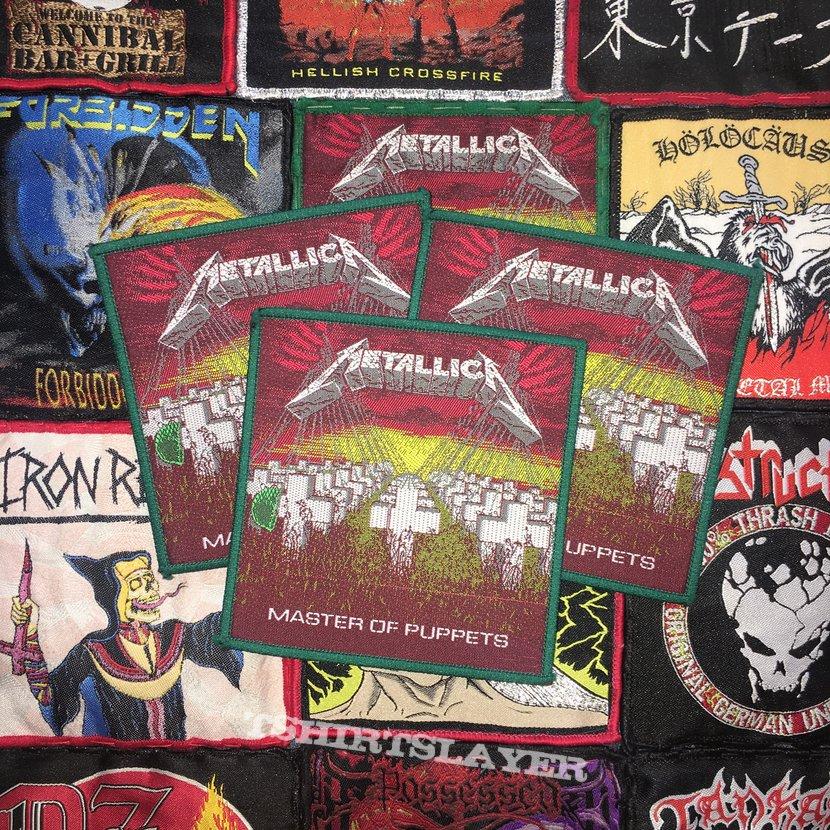 Metallica - Master Of Puppets Woven Original Patch (Green Border)
