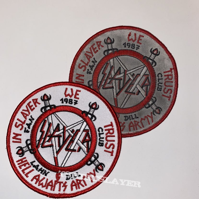 VTG Slayer Embroidered Fan Club Patch