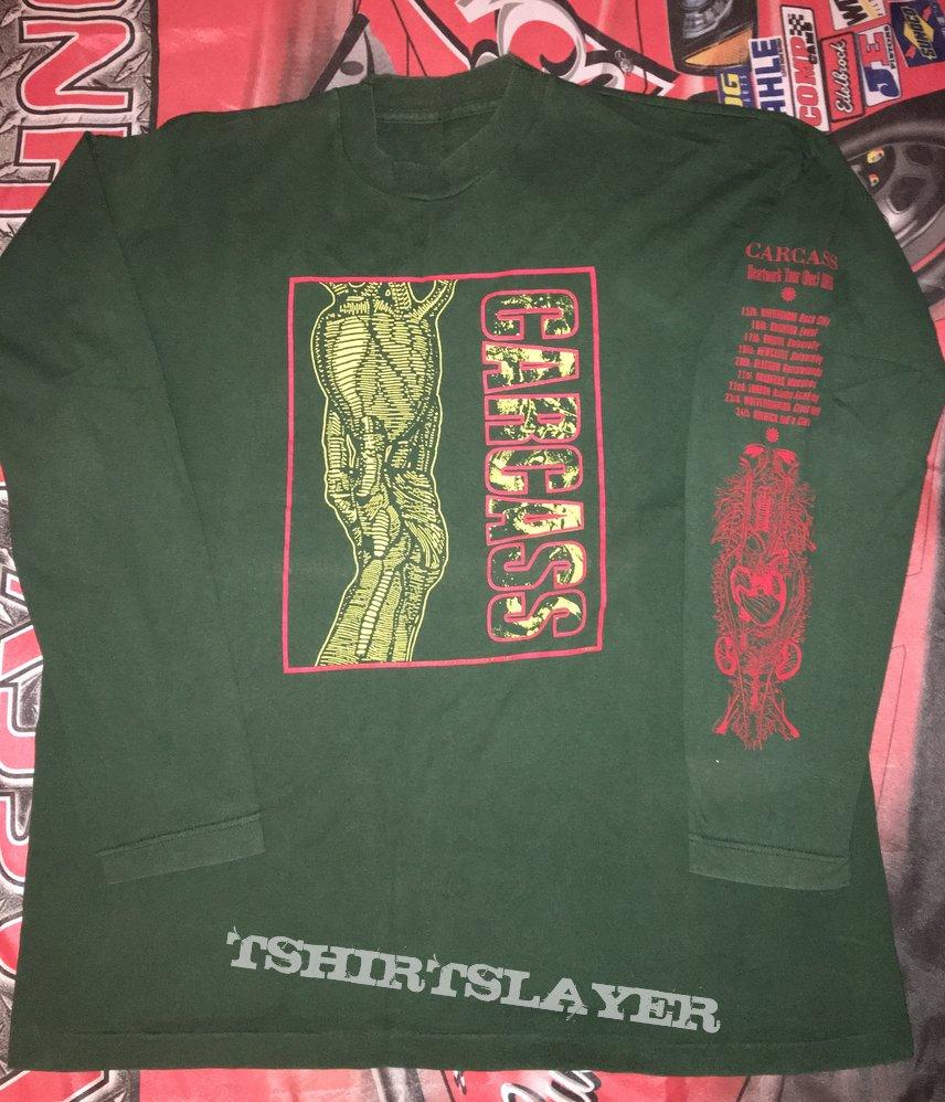 Carcass 'Heartwork' Green L/S Shirt