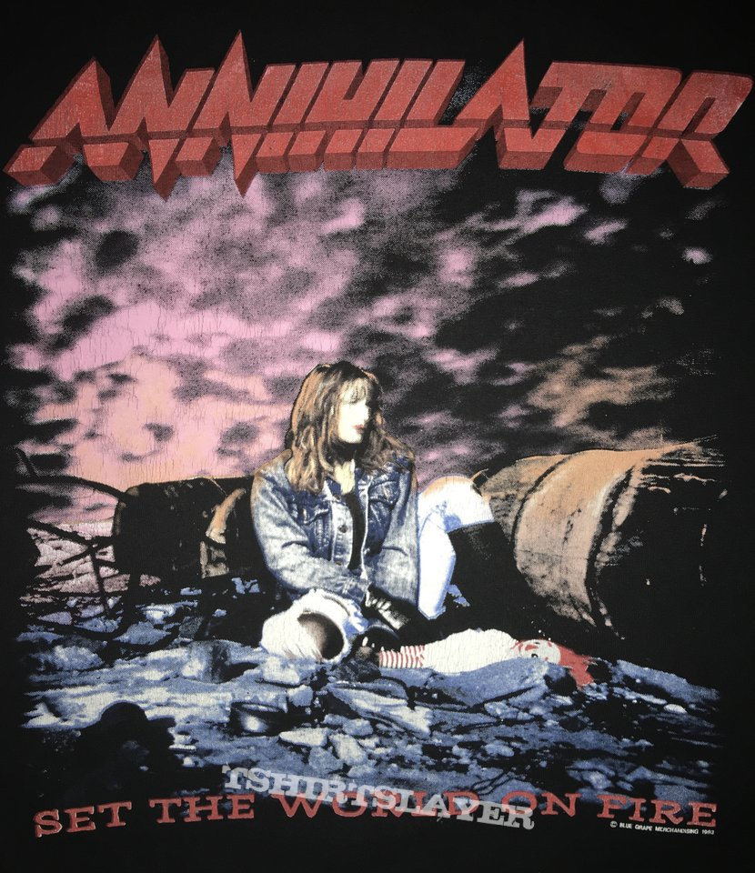 Annihilator 'Set the World in Fire' L/S Shirt