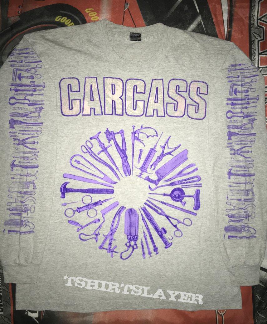 Carcass 'Gods Of Grind European Tour 1992' Gray L/S Shirt