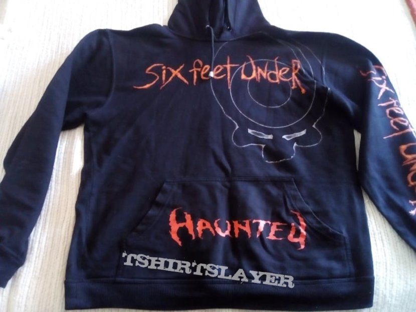 Six Feet Under  Haunted  Hooded Top