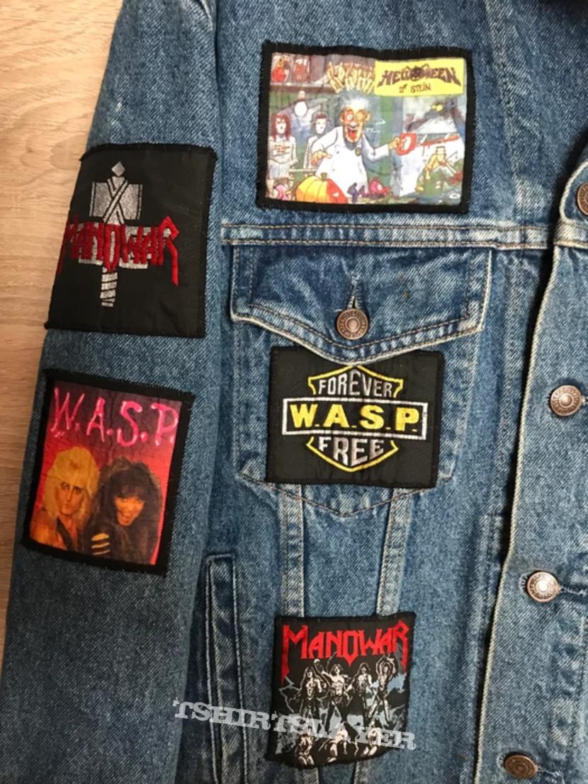 Manowar, Anthrax, Helloween, Megadeth, WASP Patched Battle Jacket