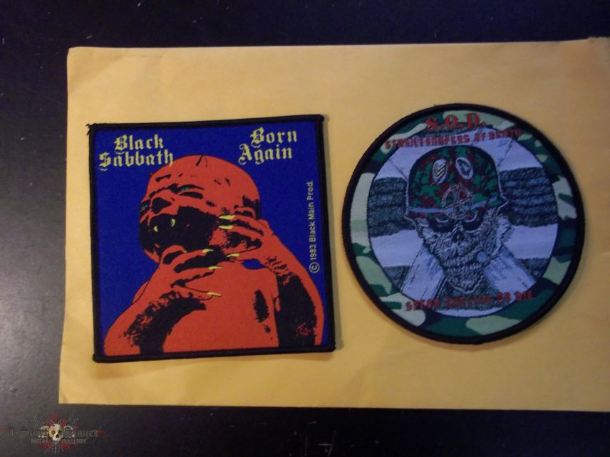 S.O.D. and Black Sabbath patches