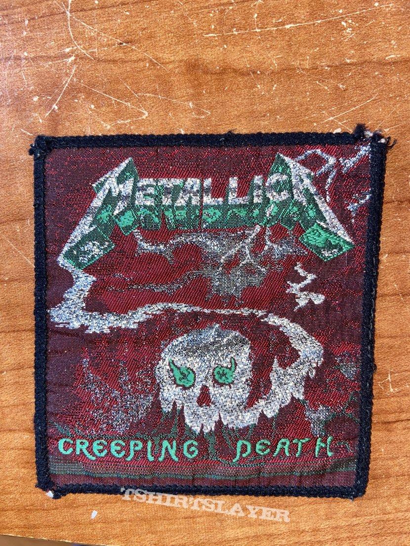Metallica creeping death patch ( green details/ black border)