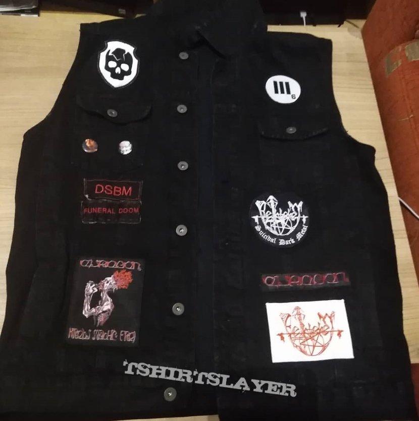 Black/Doom metal vest