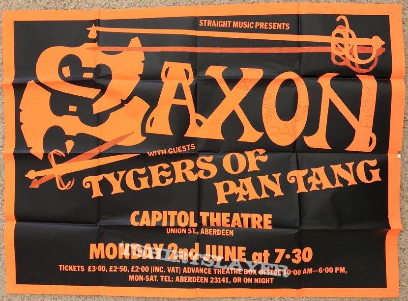 Saxon/Tygers of Pan Tang poster