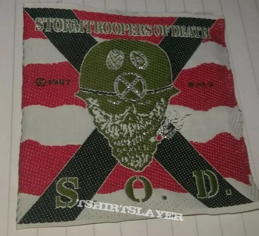 old S.O.D. patch without border