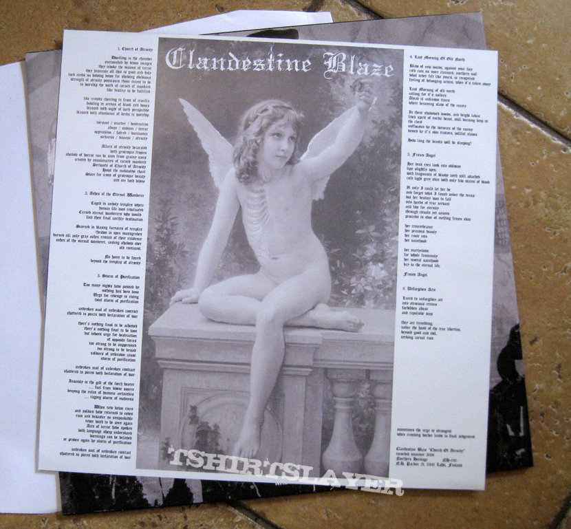 CLANDESTINE BLAZE ‎– Church Of Atrocity (Black Vinyl)