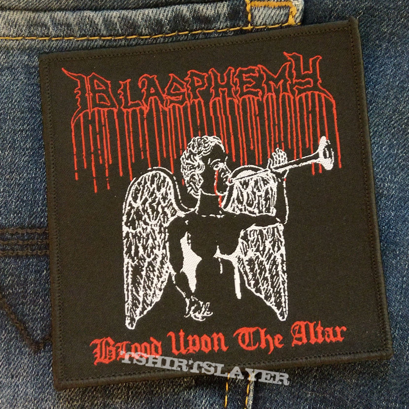BLASPHEMY - Blood Upon The Altar 100x100 mm (woven)