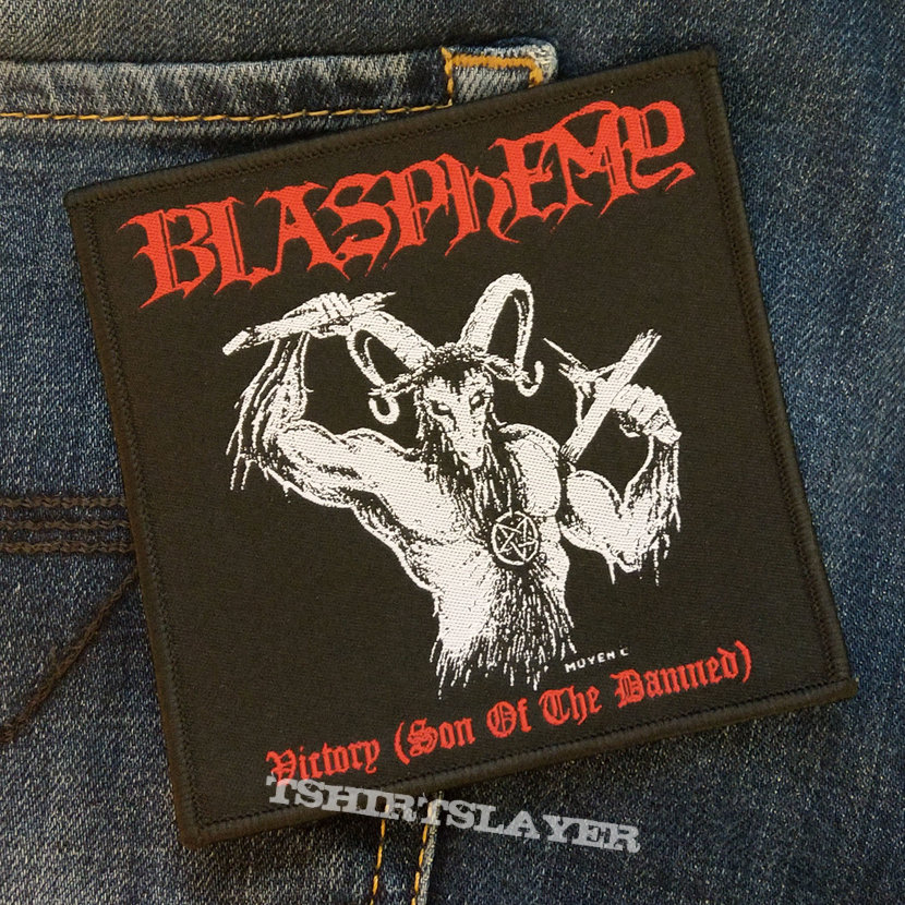 BLASPHEMY - Victory (Son Of The Damned) 100x105 mm (woven)
