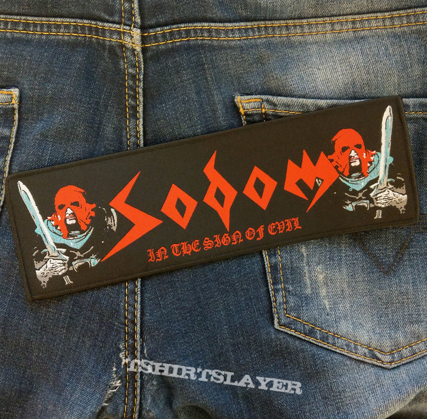 SODOM - In The Sign Of Evil 235x75 mm (woven)