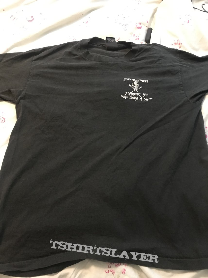 Metallica 94 who gives a shit tour crew shirt