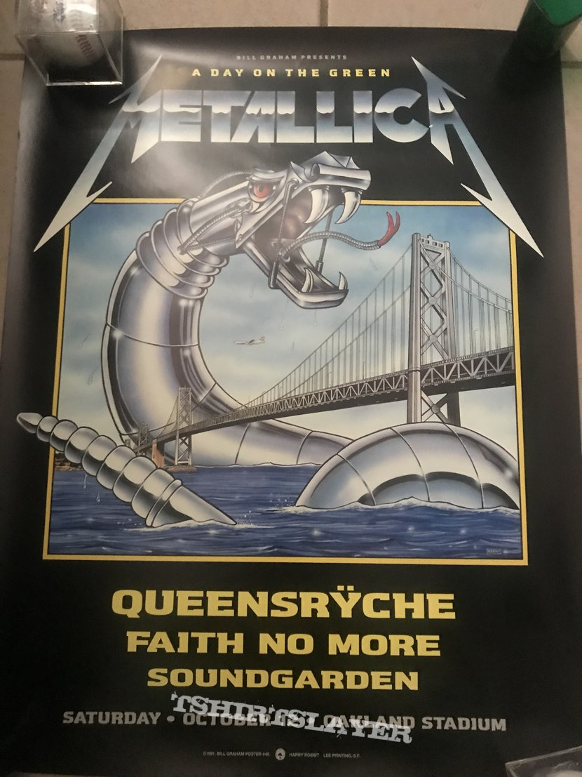 Metallica day on the green poster