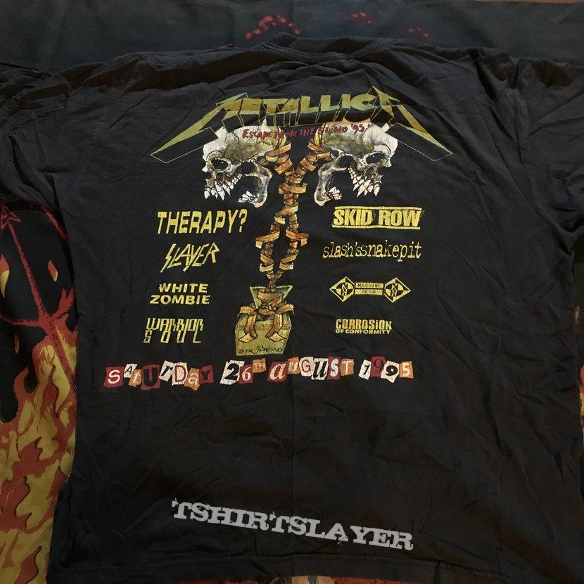Metallica donington 95 tour shirt