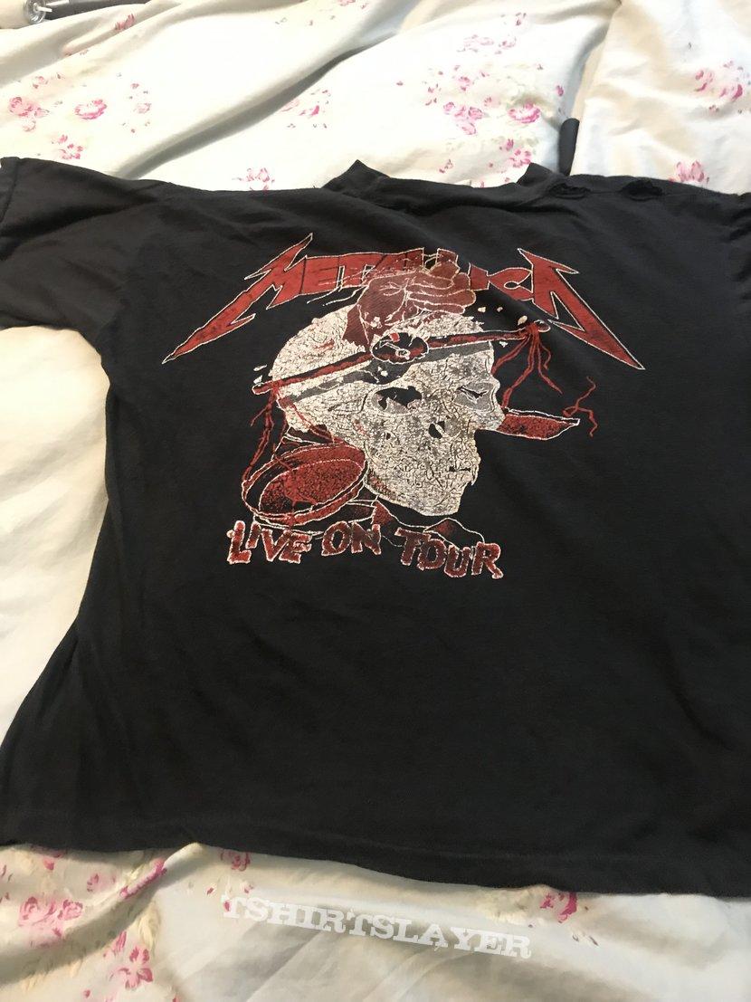 Metallica justice tour shirt