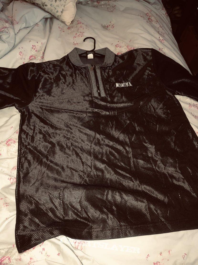 Metallica shiny polo shirt metclub   TShirtSlayer TShirt and