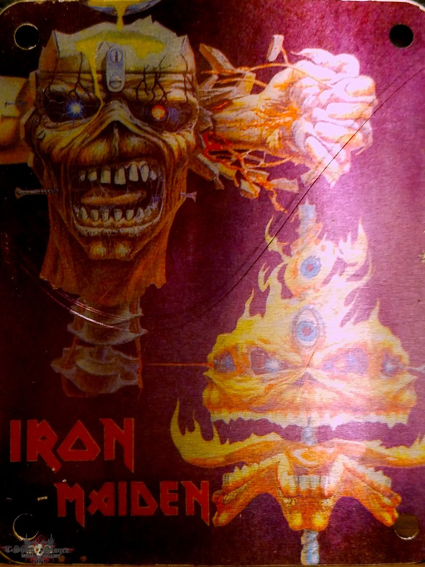 """Iron Maiden vintage 80s """"patch"""" (made of actual metal)"""
