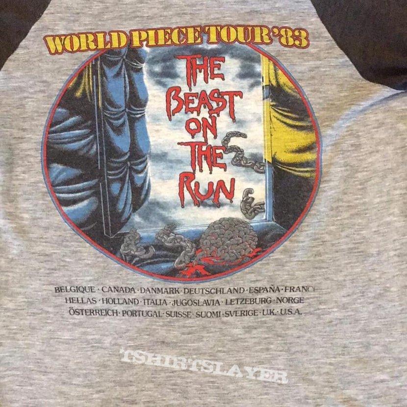 1983 Iron Maiden World Piece Tour Shirt 3/4 Sleeve.