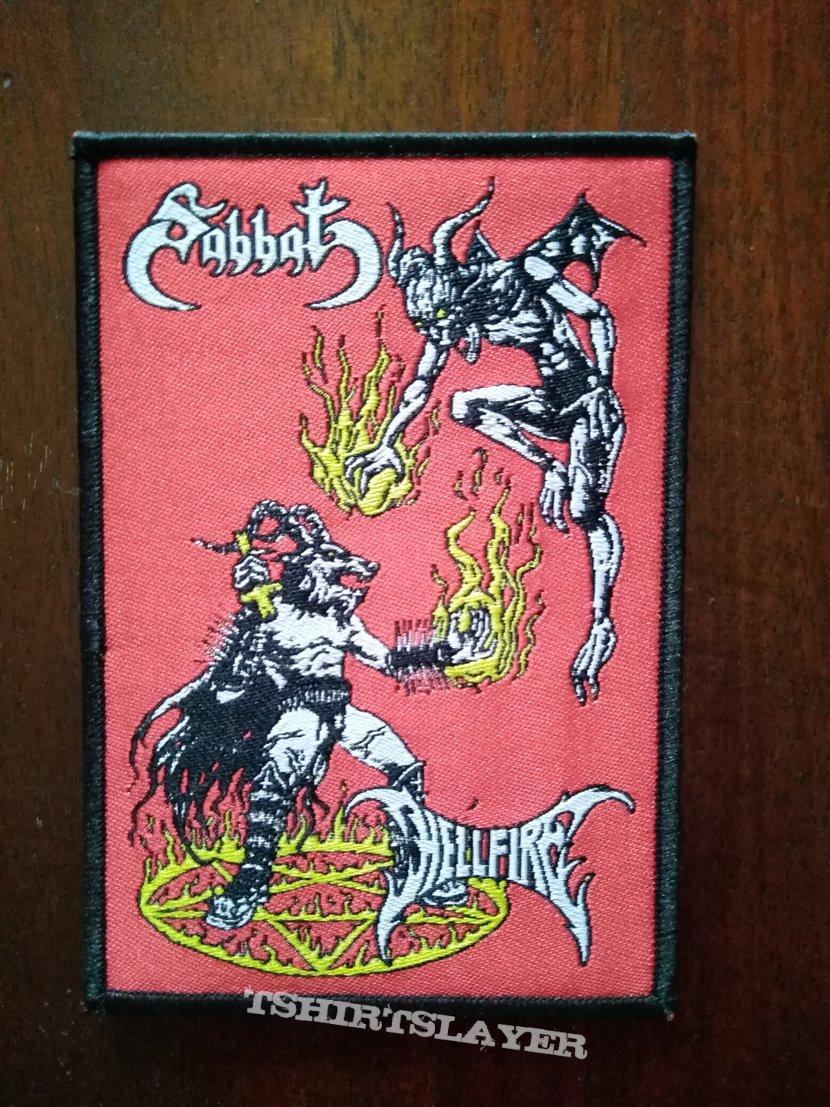 Sabbat woven patch (Sabbatical Hellfirexecution - split with Hellfire)