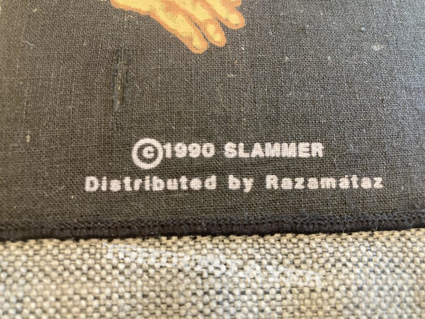 Slammer - Work Of Idle Hands Official Vlntage Backpatch