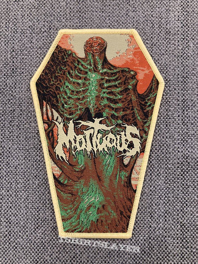 Mortuous - Through Wilderness Official Woven Coffin Patch