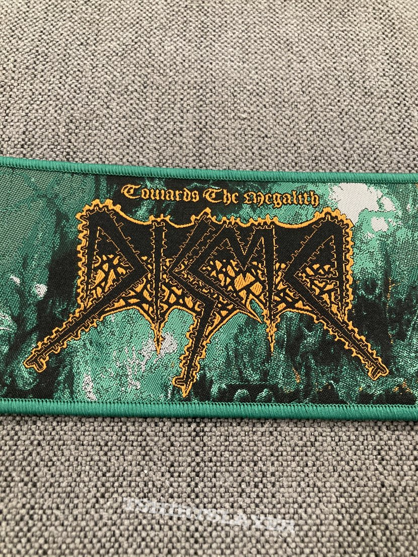 Disma - Towards The Megalith Official Woven Strip Patch