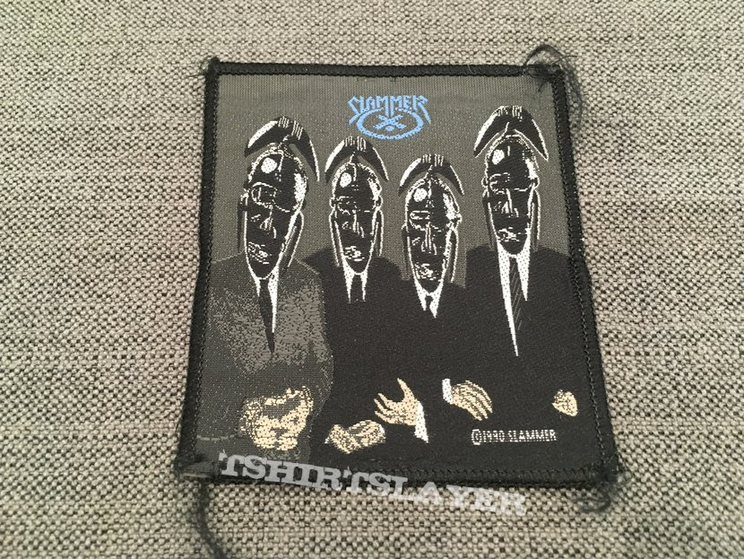 Slammer - Work Of Idle Hands Official Vintage Woven Patch